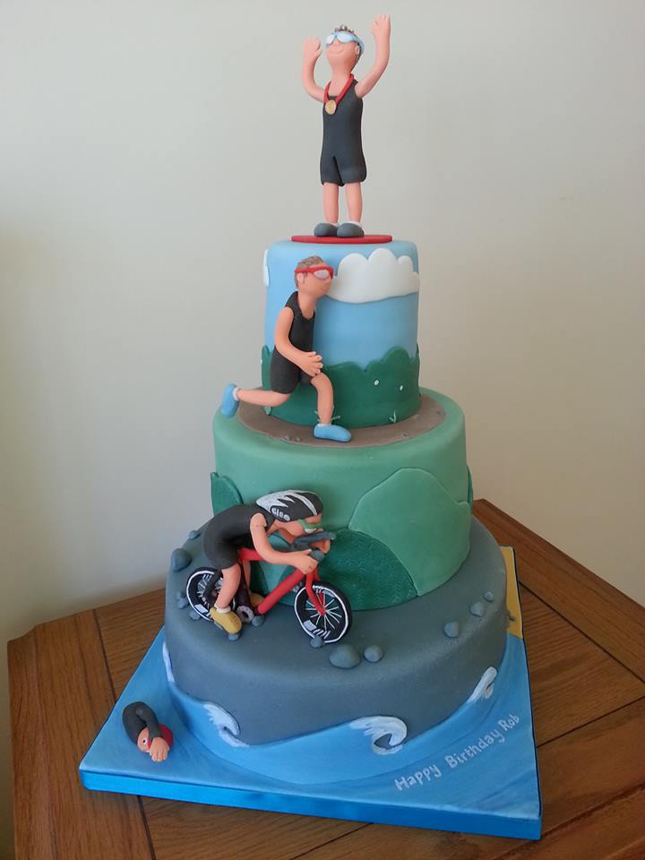 Triathlon cake for him