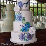 4 tier hand painted