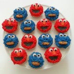 Cookie Monster/Elmo mix